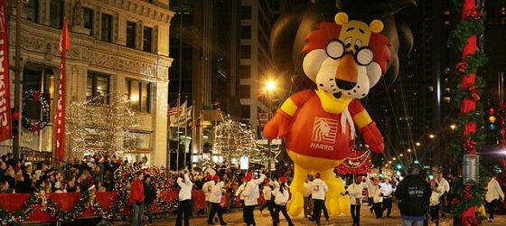 Harris Bank Takes to the Skies: Corporate Mascot Roars to Life!