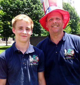 Dave Stecher, Sales (with his son)
