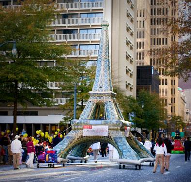 Louvre Atlanta Eiffel Tower Float