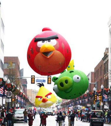 Angry Birds Parade Balloons, Cluster
