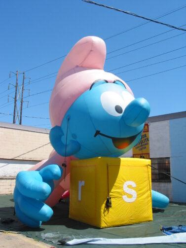 Baby Smurf CA Parade Float