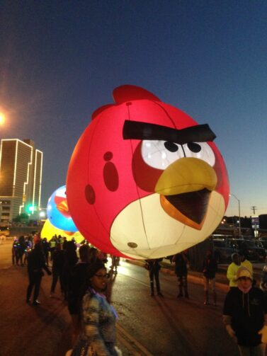 Angry Birds Lighted Parade Balloon