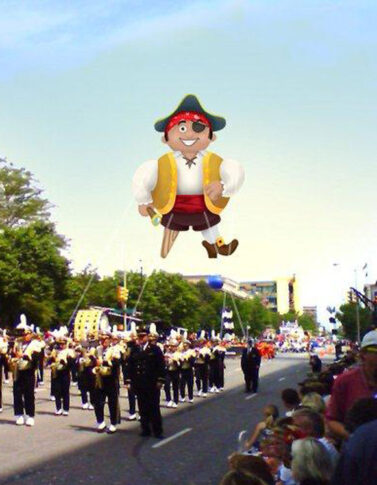 Pirate Rounder Parade Balloon, 30'
