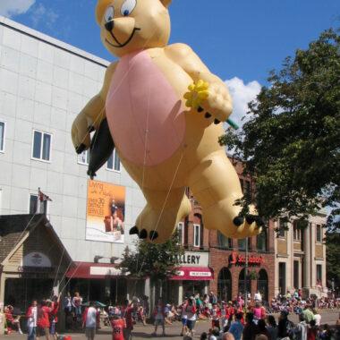 Teddy Gone Fishing Parade Balloon