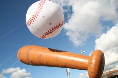 Baseball & Bat Inflatable Set