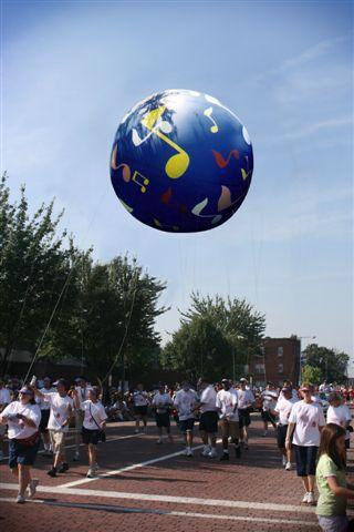 Sphere Musical Notes Parade Balloon