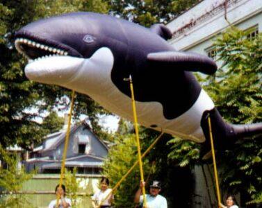 Orca Whale Pole Unit Parade Balloon, 21'