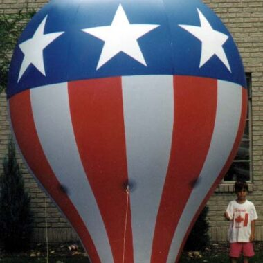 Hot Air Balloon Replica (Stars and Stripes), 12'
