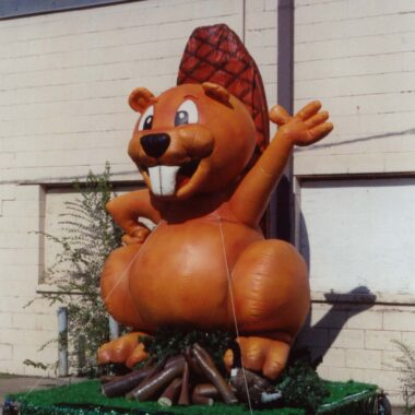 beaver parade float