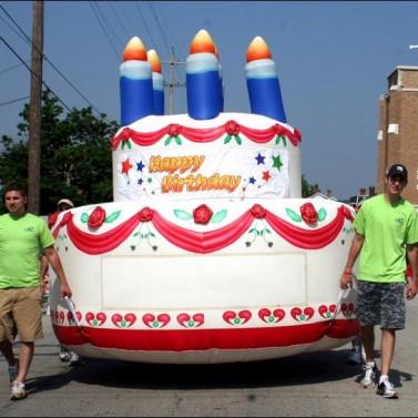 Small Inflatable Birthday Cake