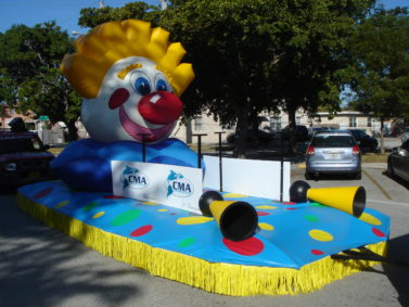 Clown Head Parade Float