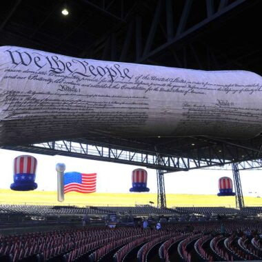 american constitution parade balloon