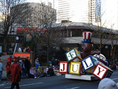 Patriotic Teddy Parade Float