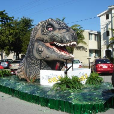 dinosaur parade float