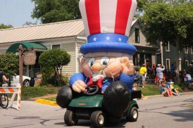 Uncle Sam Krazy Kart Parade Float