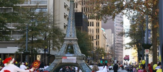 Louvre Atlanta Commissions Inflatable Eiffel Tower
