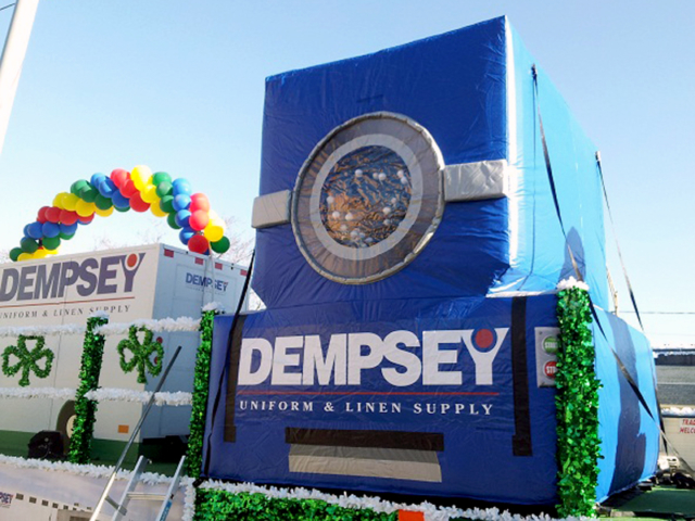 Dempsey Uniforms, Inflatable Washing Machine