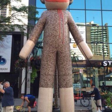 sock monkey parade balloon