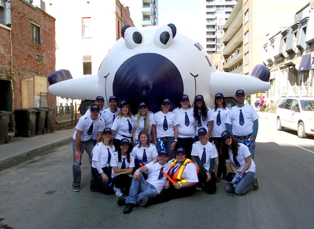 WestJet Airlines, Parade Inflata-Float®