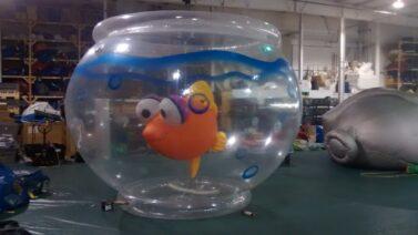 Fish in a bowl parade balloon
