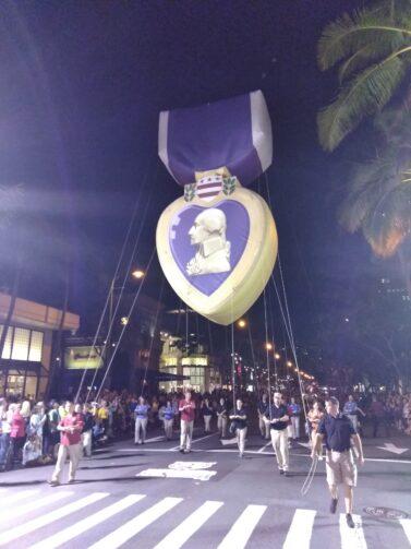 Purple Heart Parade Balloon
