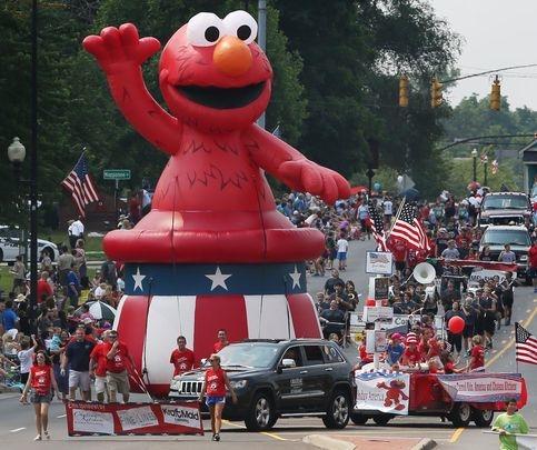 Elmo Coldair in Patriotic Hat