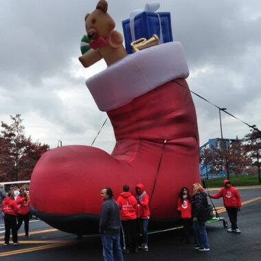 Santa's Boot Parade Balloon
