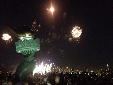Statue of Liberty balloon night
