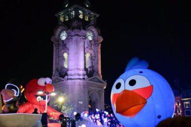 Lighted Angry Bird Parade Balloon
