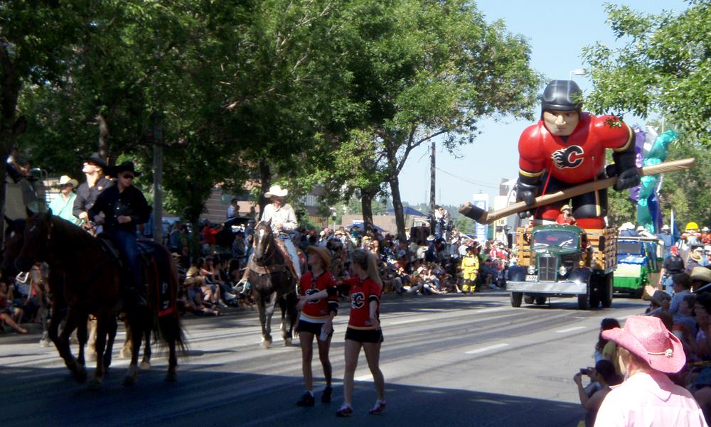 Calgary Flames, Inflatable Hockey Player