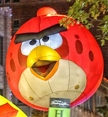 Lighted Angry Bird Parade Balloon
