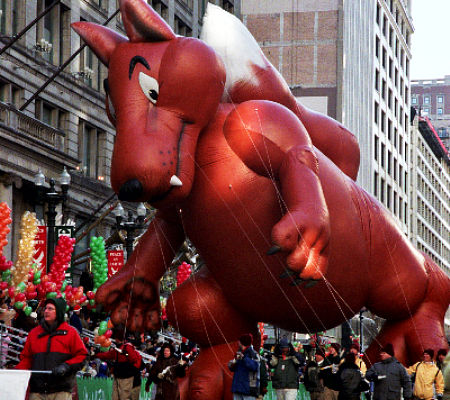 Big Bad Wolf Parade Balloon, Three Little Pigs