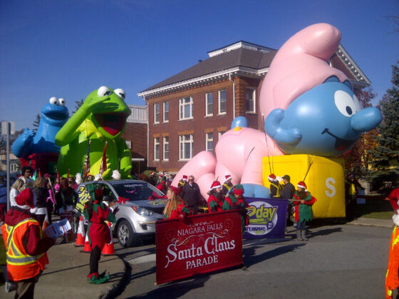 Baby Smurf CA Parade Float