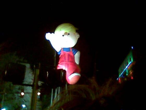 Dennis the menace night parade