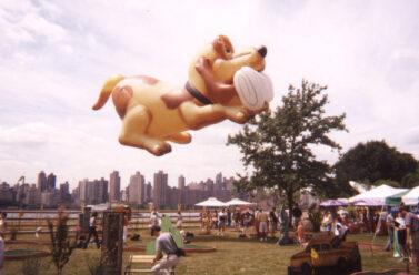 Newspaper Retriever Dog Parade Balloon