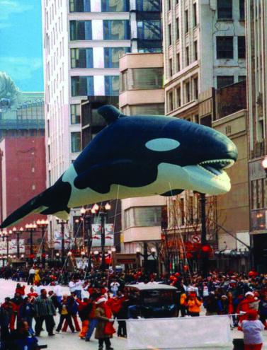Orca WhaleParade Balloon (Realistic), 45'