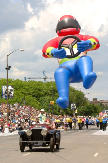 Race Car Driver Parade Balloon