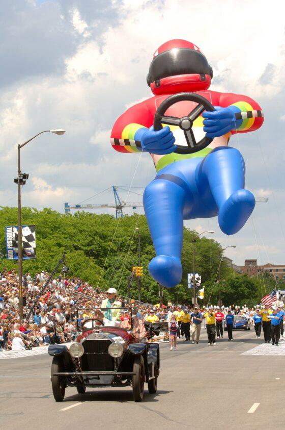 Race Car Driver Parade Balloon