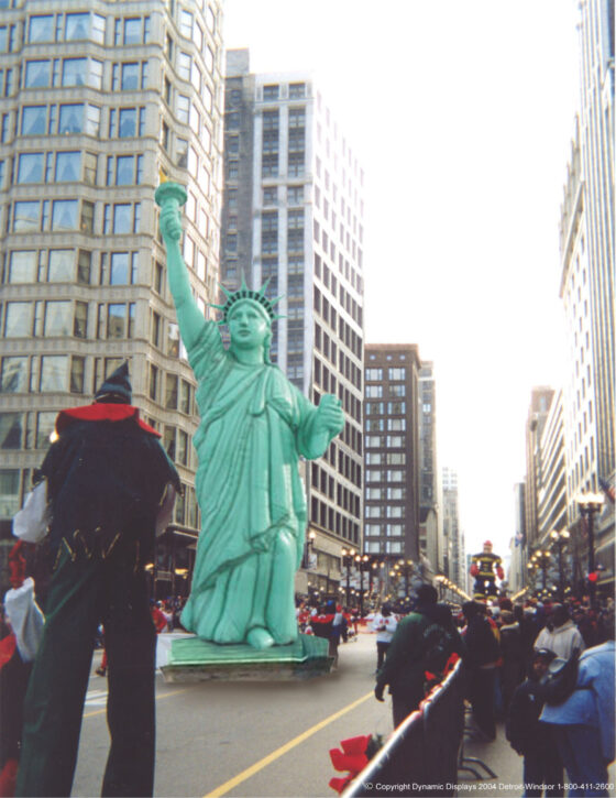 Statue Liberty in parade
