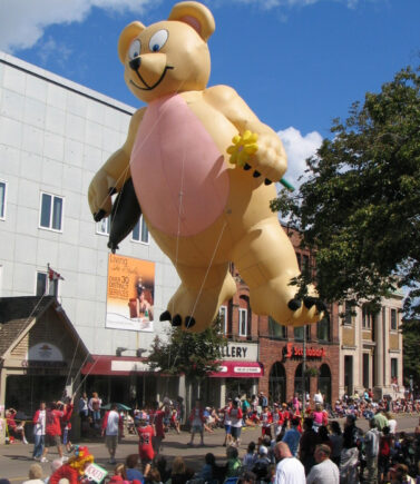Teddy Gone Fishing Parade Balloon
