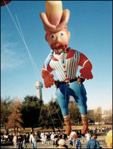 Six-Gun Sam, Cowboy Parade Balloon