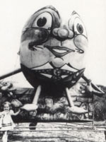 Sealed, Cold-Air Inflatable Humpty Dumpty circa. 1963