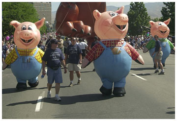 Three Little Pigs Costume Inflatable
