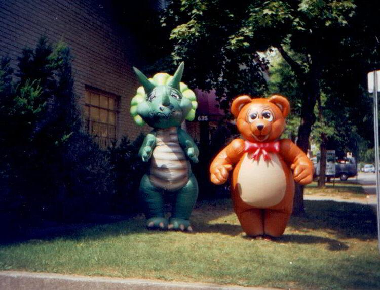 Sarah-Tops the Dinosaur Inflatable Costume