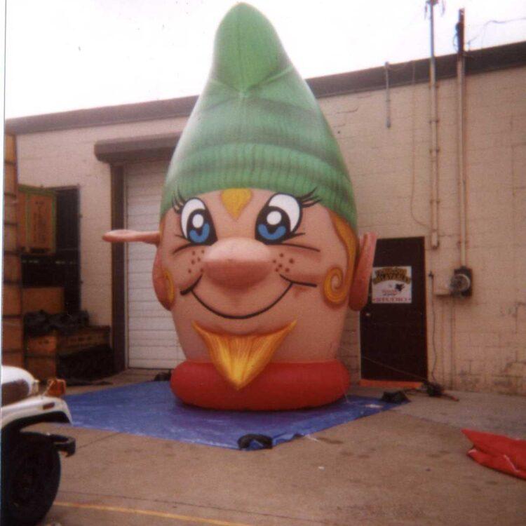 Elf Head Parade Balloon, 13'