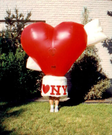 Heart Inflatable Costume (I Heart NY)
