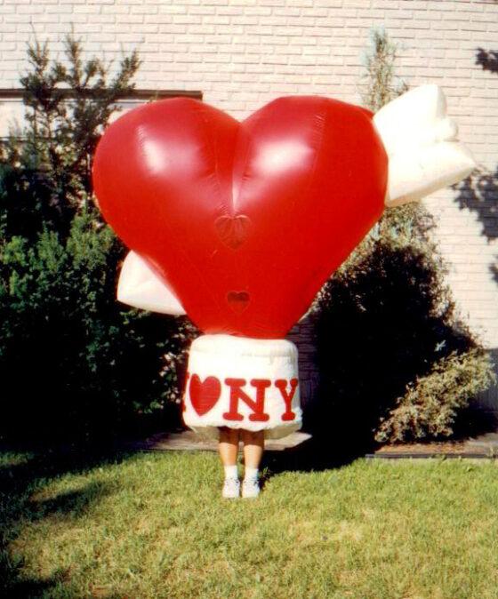 Heart Inflatable Costume (I Heart NY)