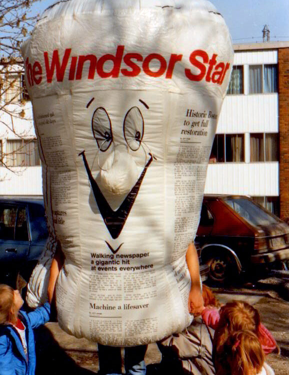 Custom Newspaper Inflatable Costume