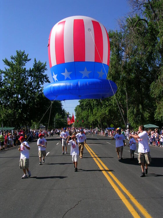 Patriotic Hats Parade Balloons