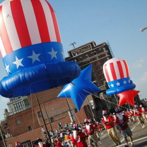 Patriotic Hats Parade Balloons
